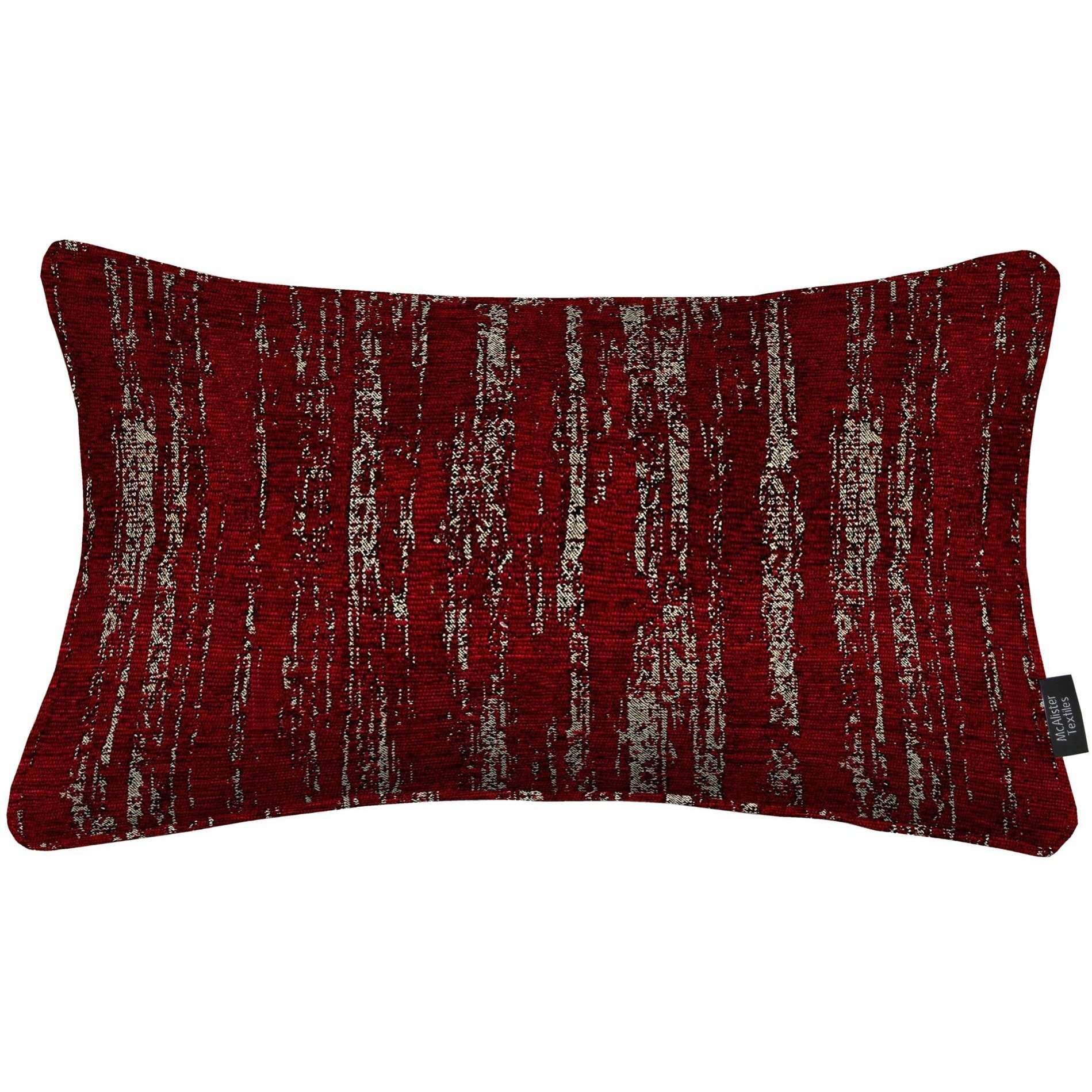 McAlister Textiles Textured Chenille Wine Red Cushion Cushions and Covers Cover Only 50cm x 30cm