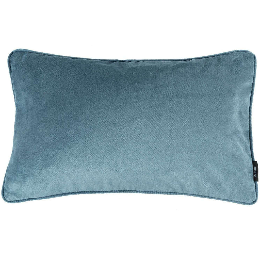 McAlister Textiles Matt Petrol Blue Velvet Cushion Cushions and Covers Cover Only 50cm x 30cm