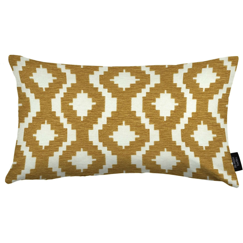 McAlister Textiles Arizona Geometric Mustard Yellow Pillow Cushions and Covers