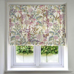 Load image into Gallery viewer, McAlister Textiles Wildflower Pastel Purple Linen Roman Blind Roman Blinds Standard Lining 130cm x 200cm
