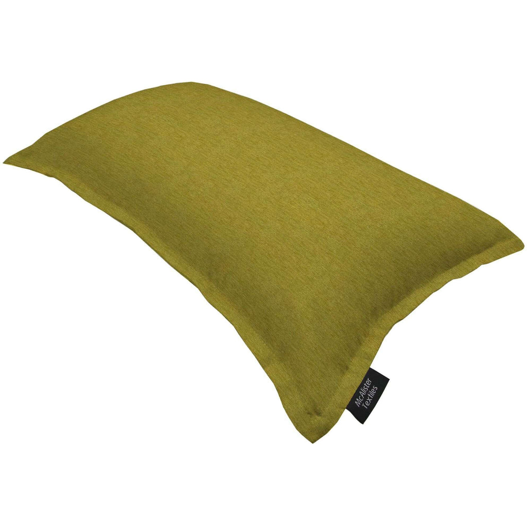 McAlister Textiles Plain Chenille Lime Green Pillow Pillow