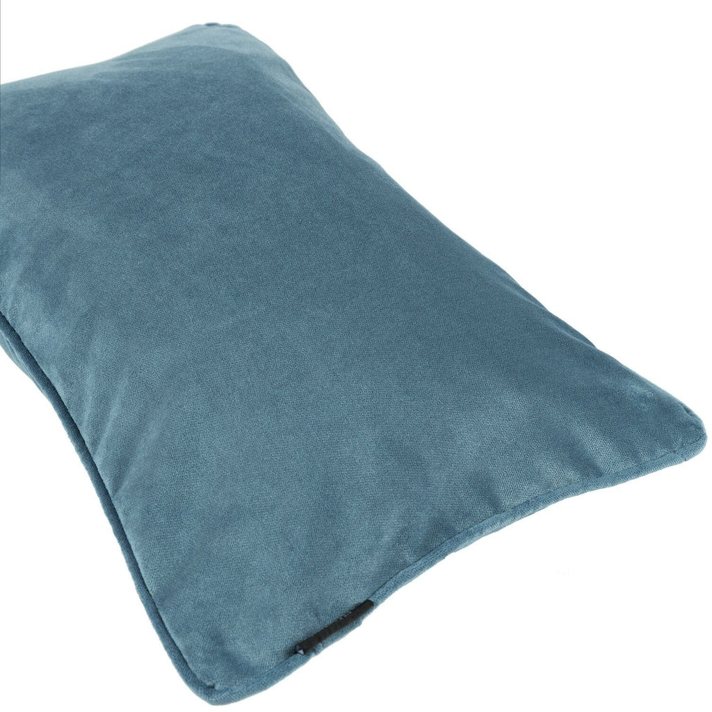 McAlister Textiles Matt Petrol Blue Velvet Cushion Cushions and Covers