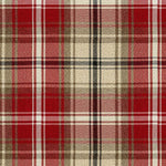Load image into Gallery viewer, McAlister Textiles Angus Red + White Tartan Curtains Tailored Curtains