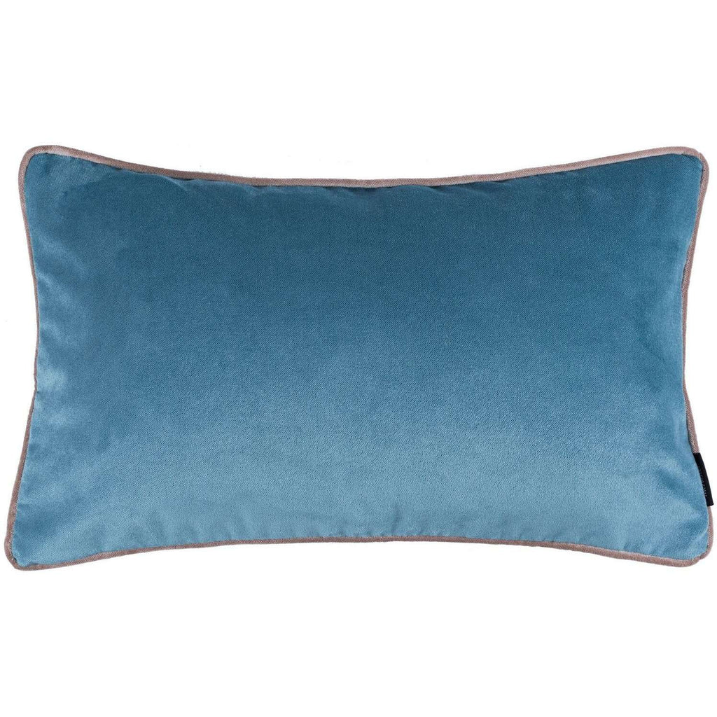 McAlister Textiles Matt Duck Egg Blue Velvet Cushion Cushions and Covers Cover Only 50cm x 30cm