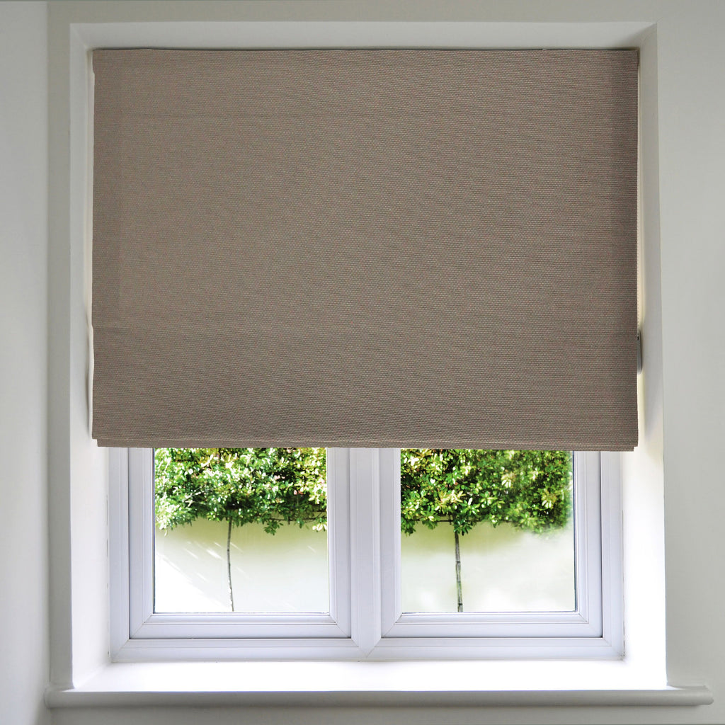 McAlister Textiles Panama Taupe Roman Blind Roman Blinds Standard Lining 130cm x 200cm Taupe