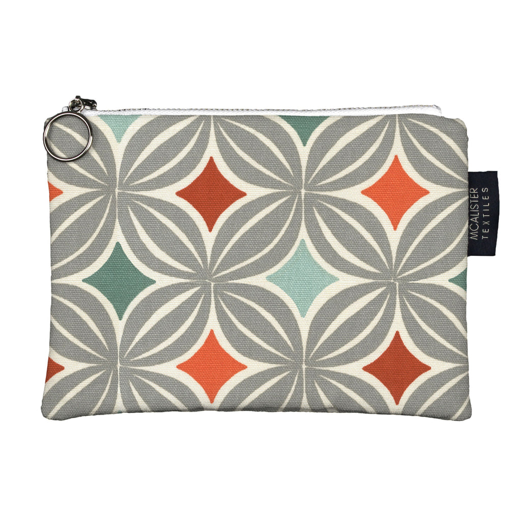 McAlister Textiles Laila Orange + Teal Makeup Bag Clutch Bag