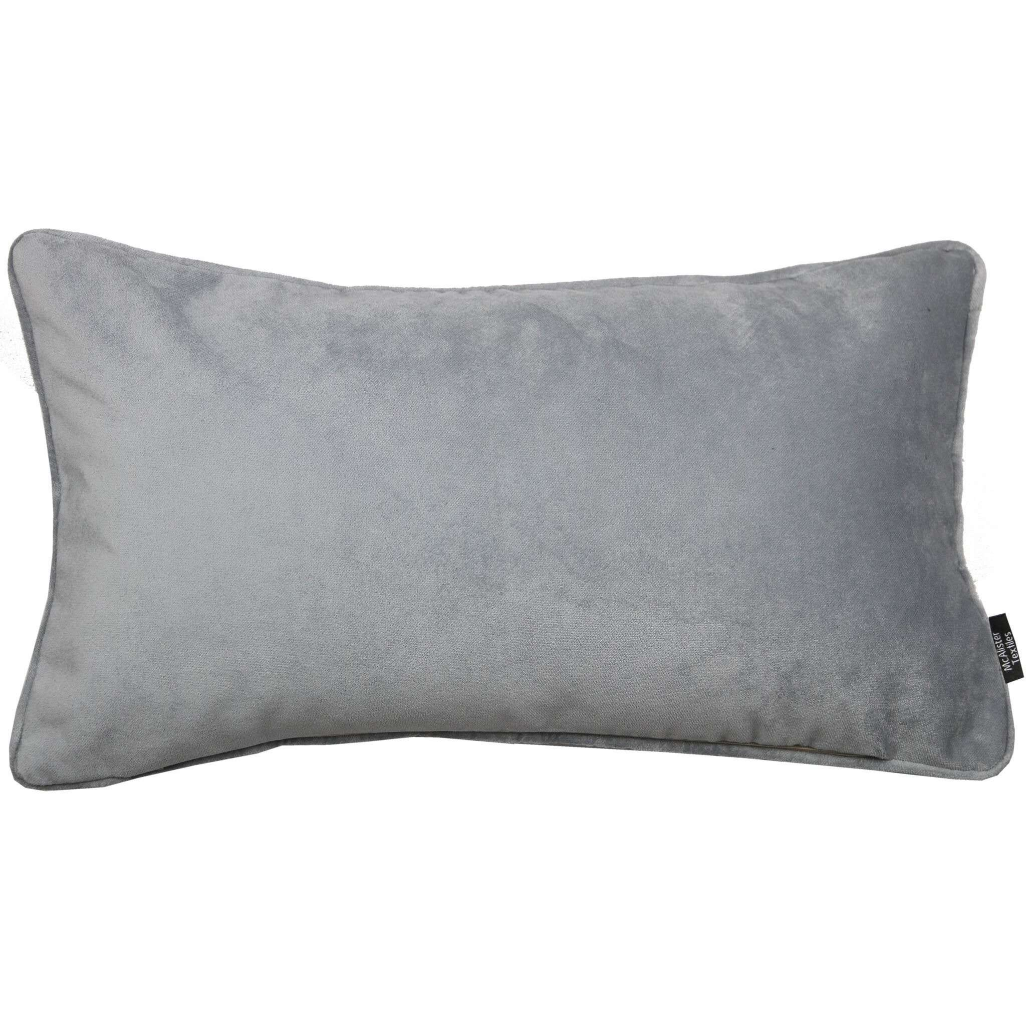 McAlister Textiles Matt Dove Grey Velvet Pillow Pillow Cover Only 50cm x 30cm