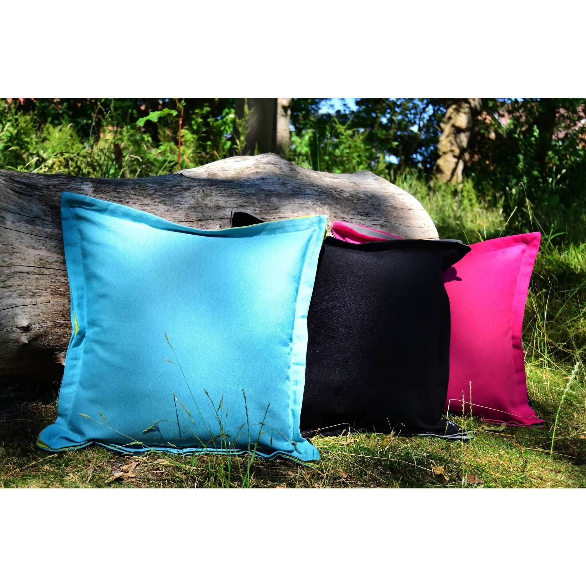 McAlister Textiles Panama Accent Black + Grey Cushion Cushions and Covers