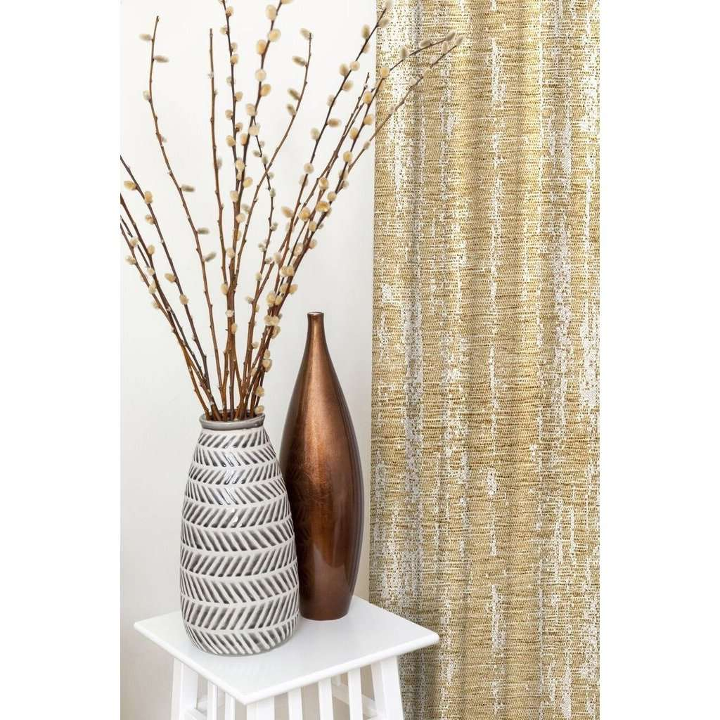 McAlister Textiles Textured Chenille Beige Cream Curtains Tailored Curtains