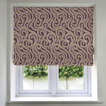 Load image into Gallery viewer, McAlister Textiles Little Leaf Aubergine Purple Roman Blind Roman Blinds Standard Lining 130cm x 200cm