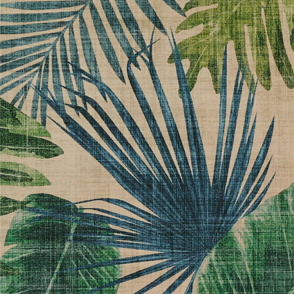 McAlister Textiles Palm Leaf Velvet Print Curtains Tailored Curtains