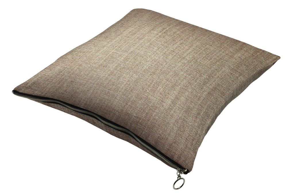 McAlister Textiles Rhumba Zipper Edge Taupe Linen Cushion Cushions and Covers Cover Only 43cm x 43cm