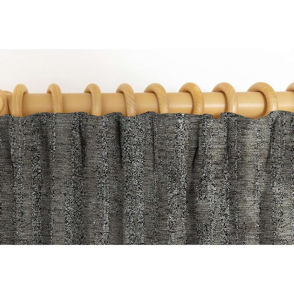 McAlister Textiles Textured Chenille Charcoal Grey Curtains Tailored Curtains