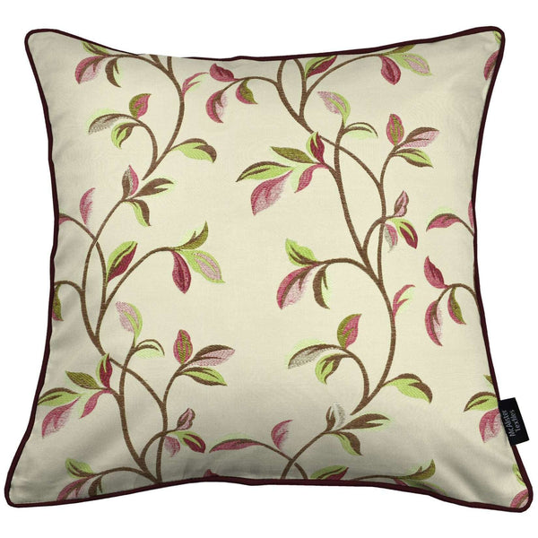 McAlister Textiles Annabel Floral Cherry Red Cushion Cushions and Covers Cover Only 43cm x 43cm