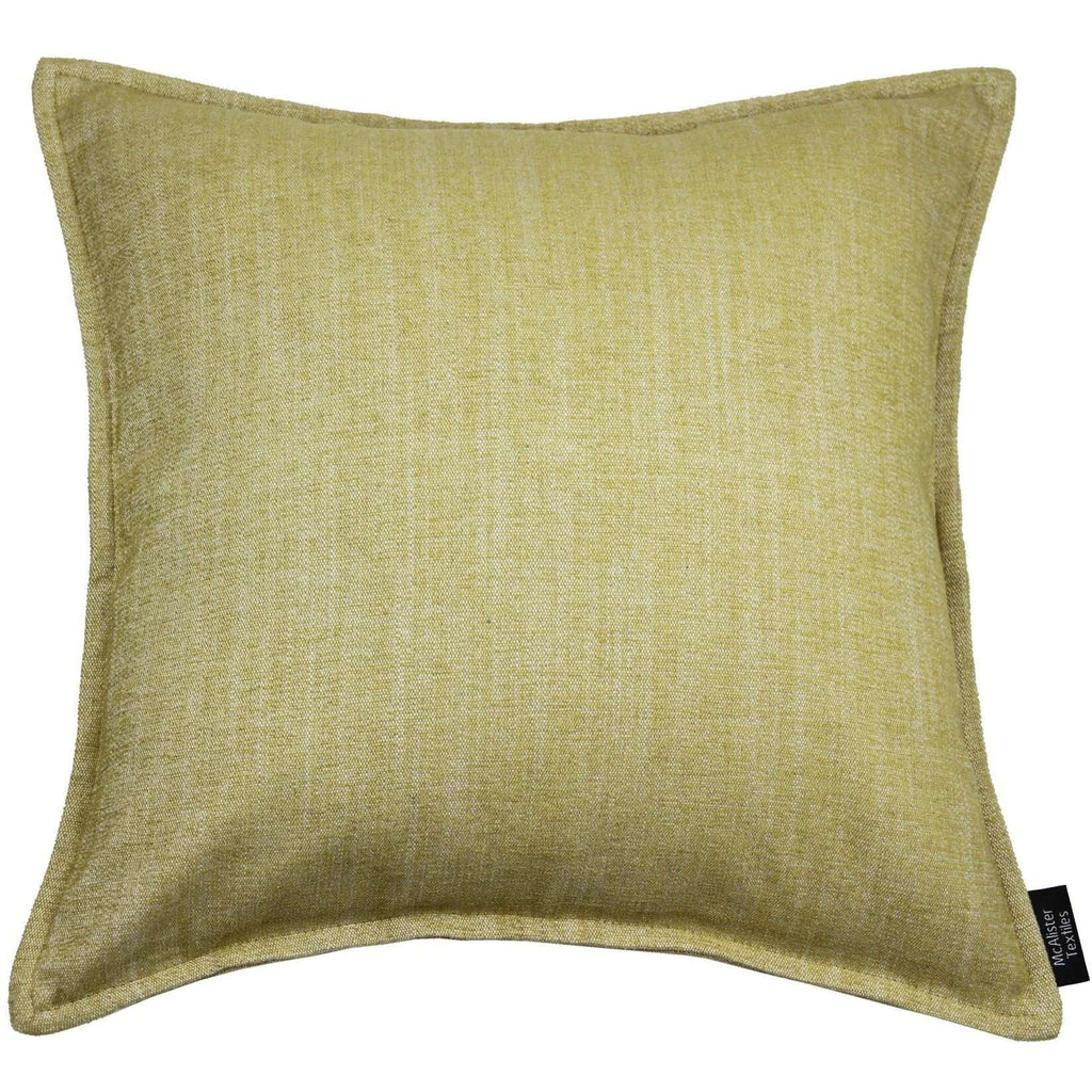 McAlister Textiles Rhumba Ochre Yellow Cushion Cushions and Covers Cover Only 43cm x 43cm