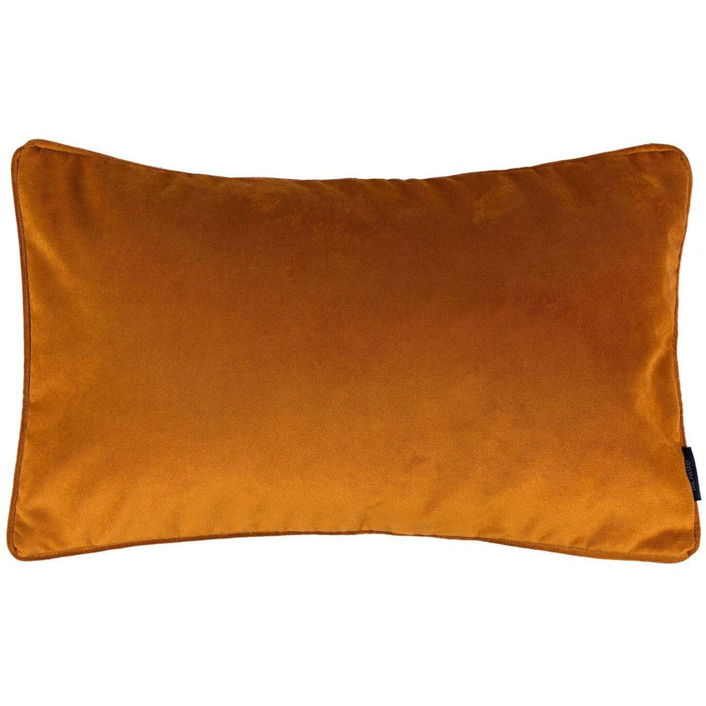 McAlister Textiles Matt Burnt Orange Velvet Pillow Pillow Cover Only 50cm x 30cm