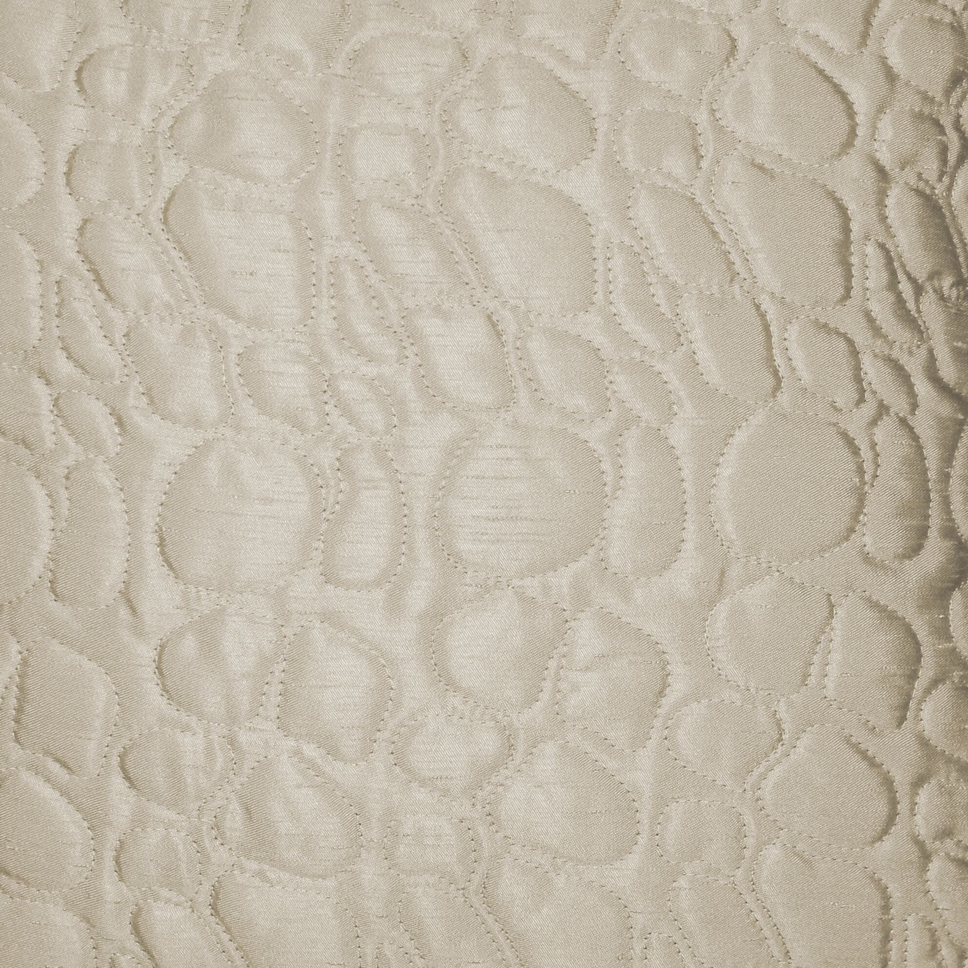 McAlister Textiles Rocco Pebble Quilted Ivory Silk Pillow Pillow