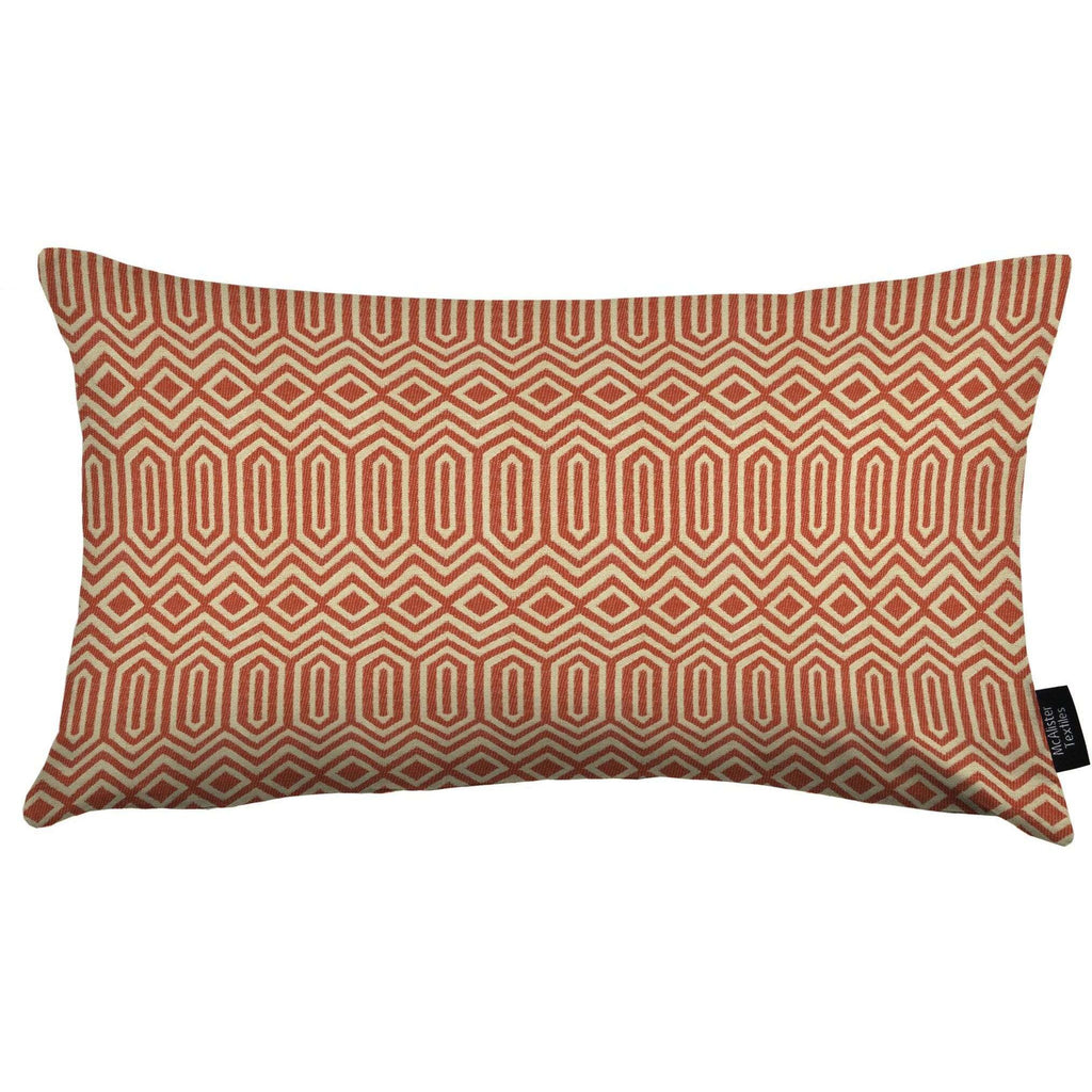 McAlister Textiles Colorado Geometric Burnt Orange Cushion Cushions and Covers Cover Only 50cm x 30cm