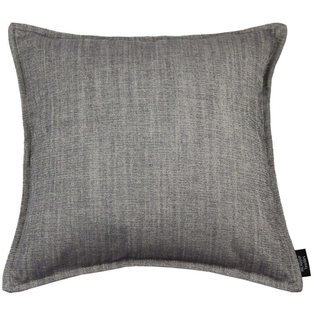 McAlister Textiles Rhumba Charcoal Grey Pillow Pillow Cover Only 43cm x 43cm