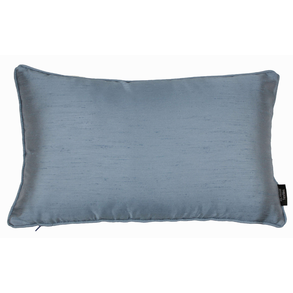 McAlister Textiles Rocco Plain Faux Silk Pale Blue Cushion Cushions and Covers Cover Only 50cm x 30cm
