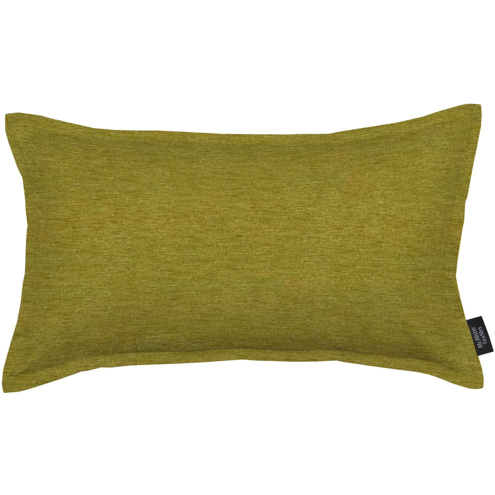 McAlister Textiles Plain Chenille Lime Green Cushion Cushions and Covers Polyester Filler 60cm x 40cm