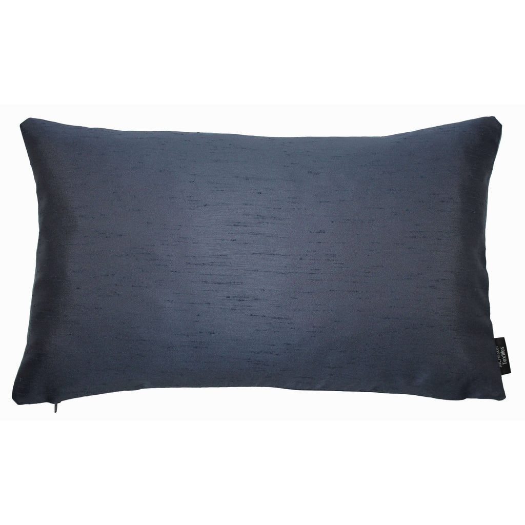 McAlister Textiles Rocco Contrast Faux Silk Light + Navy Blue Cushion Cushions and Covers Cover Only 50cm x 30cm
