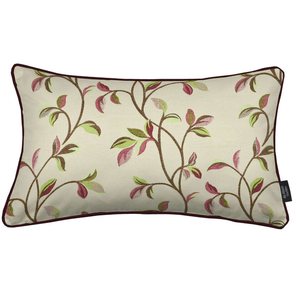 McAlister Textiles Annabel Floral Cherry Red Pillow Pillow Cover Only 50cm x 30cm