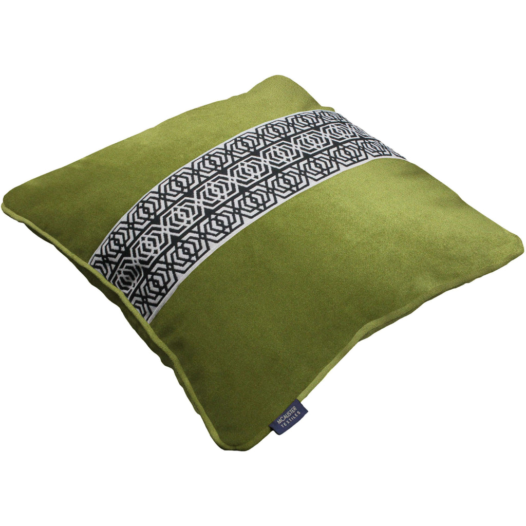 McAlister Textiles Coba Striped Lime Green Velvet Pillow Pillow