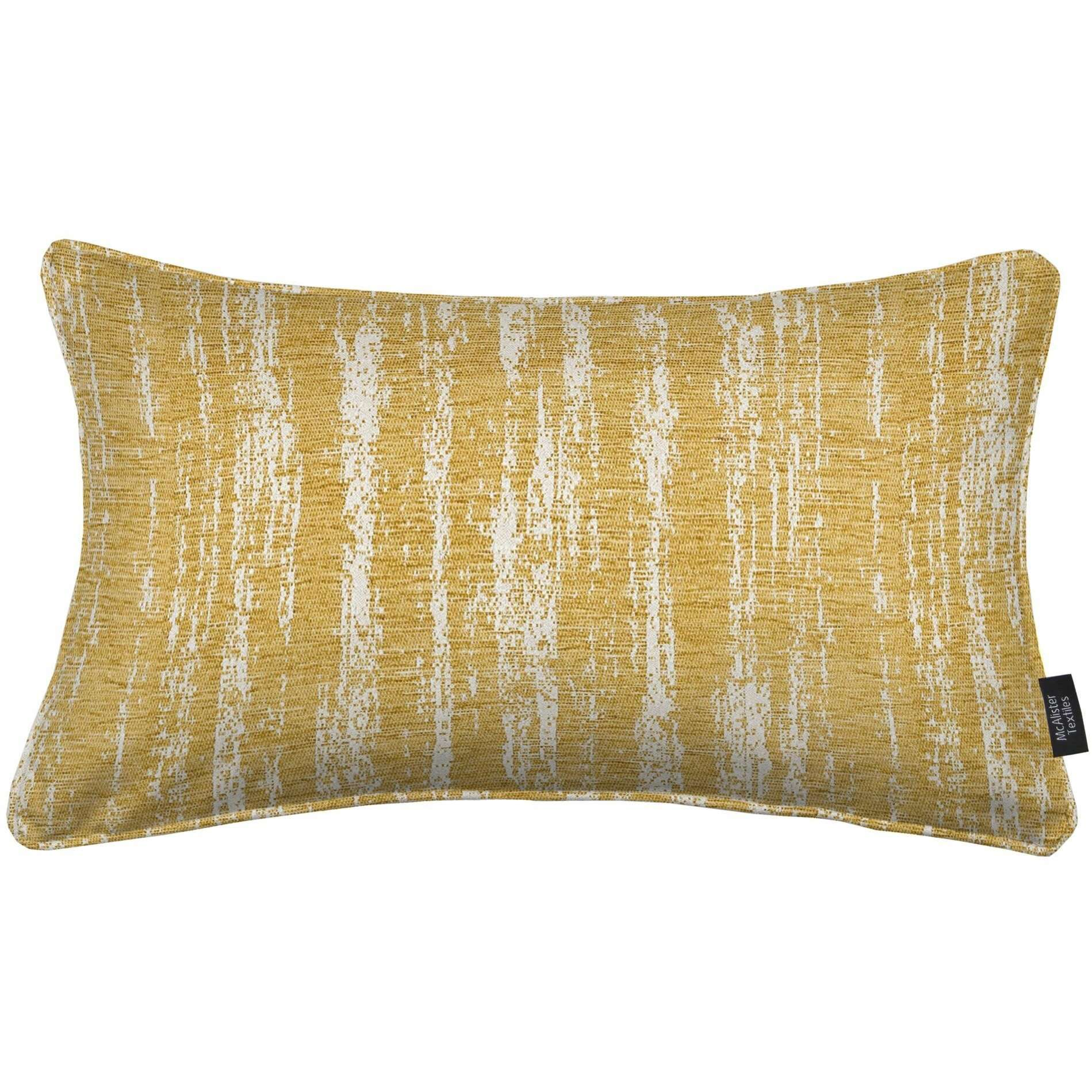 McAlister Textiles Textured Chenille Mustard Yellow Cushion Cushions and Covers Cover Only 50cm x 30cm