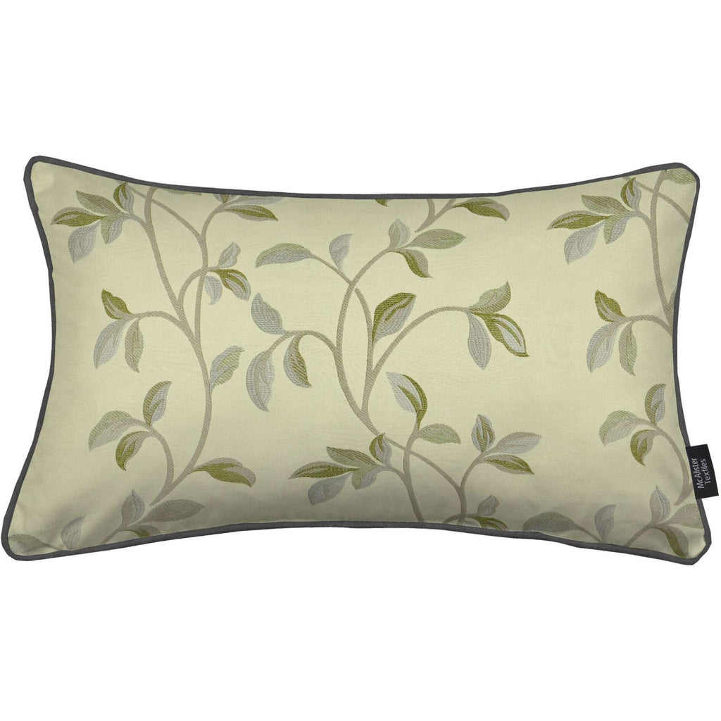 McAlister Textiles Annabel Floral Sage Green Cushion Cushions and Covers Cover Only 50cm x 30cm