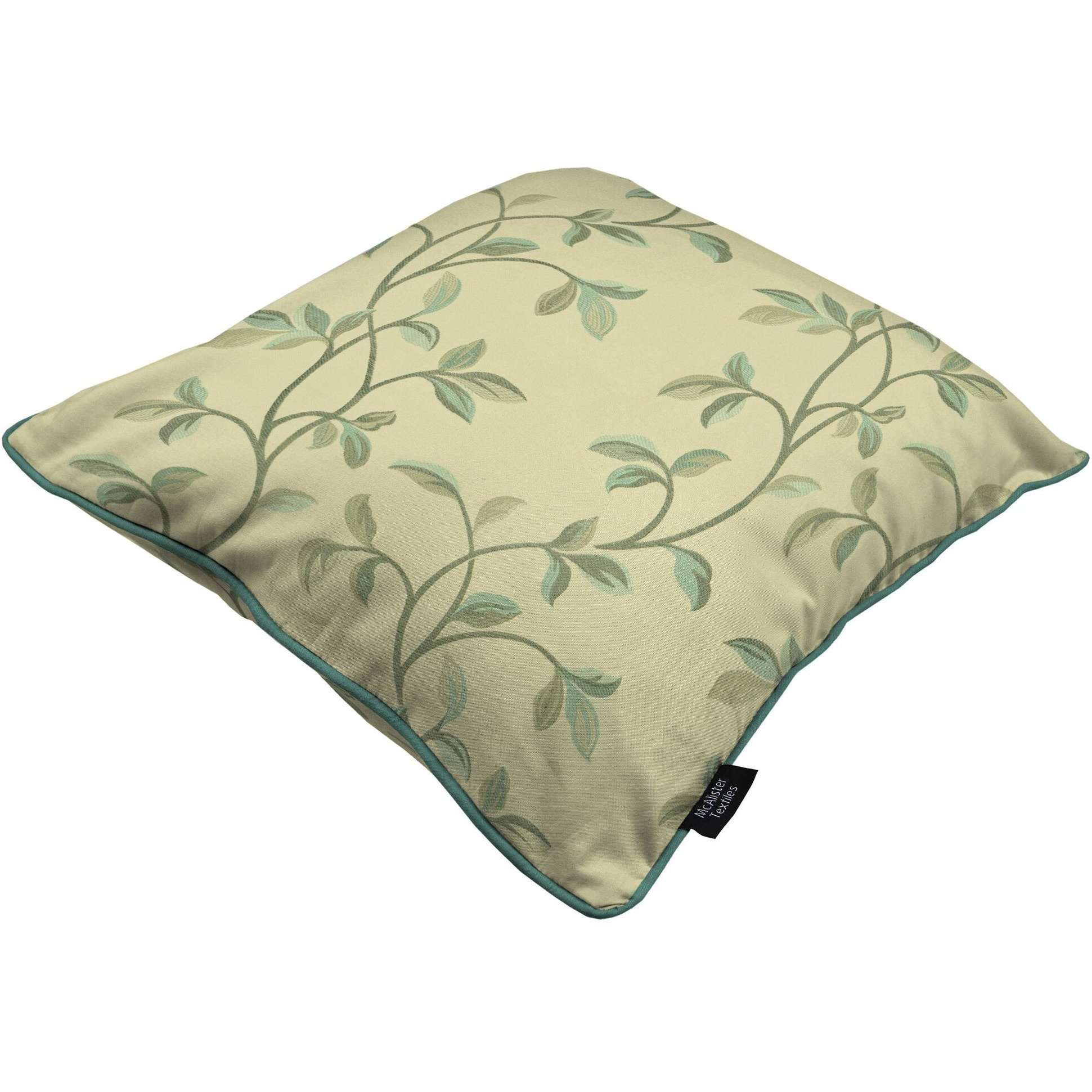 McAlister Textiles Annabel Floral Duck Egg Blue Cushion Cushions and Covers