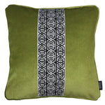Cargar imagen en el visor de la galería, McAlister Textiles Coba Striped Lime Green Velvet Cushion Cushions and Covers Polyester Filler 43cm x 43cm