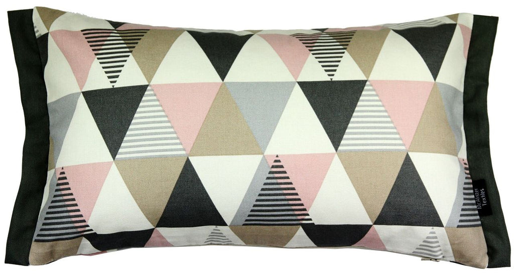 McAlister Textiles Vita Cotton Print Blush Pink Pillow Pillow Cover Only 50cm x 30cm