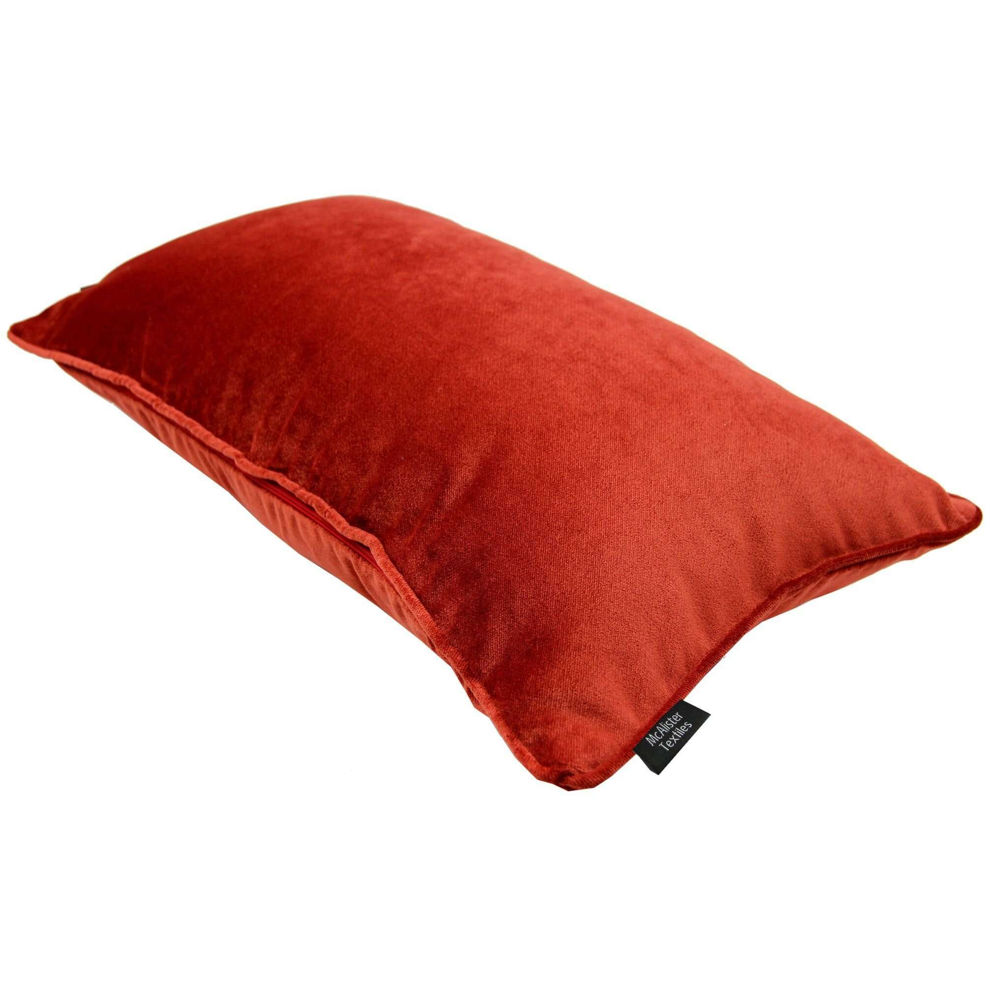 McAlister Textiles Matt Rust Red Orange Velvet Cushion Cushions and Covers