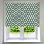 Load image into Gallery viewer, McAlister Textiles Arizona Geometric Duck Egg Blue Roman Blind Roman Blinds Standard Lining 130cm x 200cm Duck Egg Blue