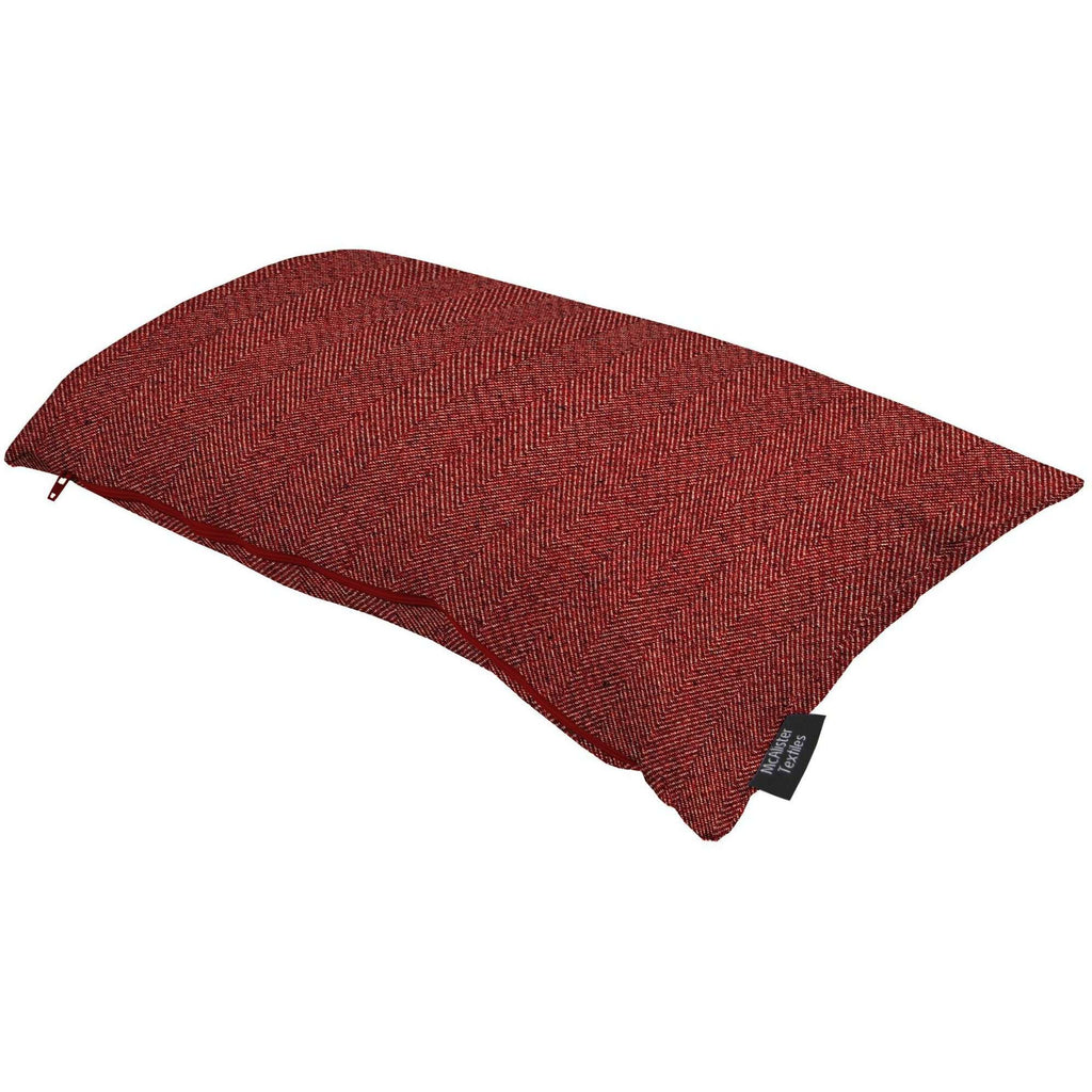 McAlister Textiles Herringbone Red Pillow Pillow