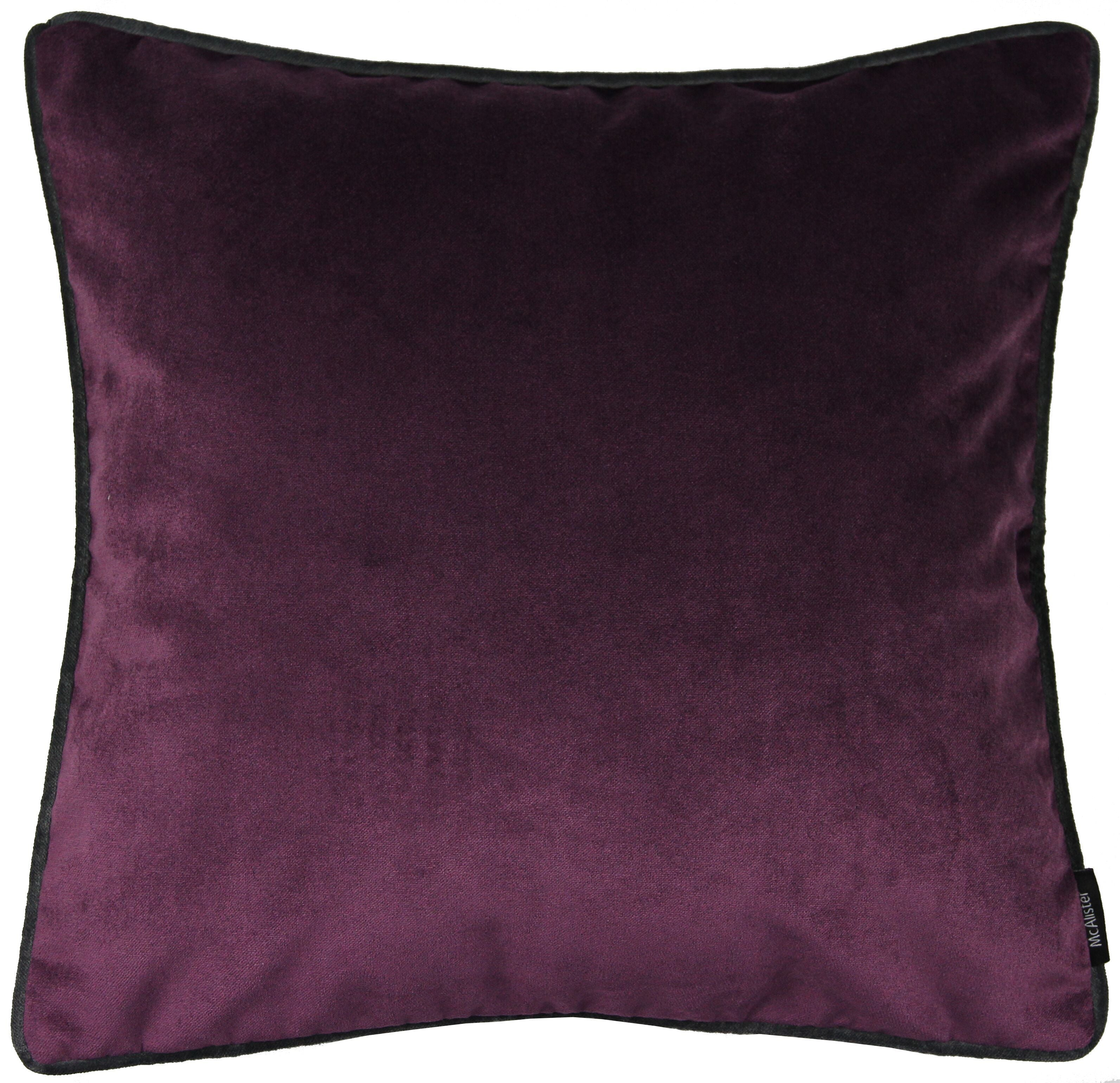 McAlister Textiles Matt Aubergine Purple Velvet Bedding Set Bedding Set