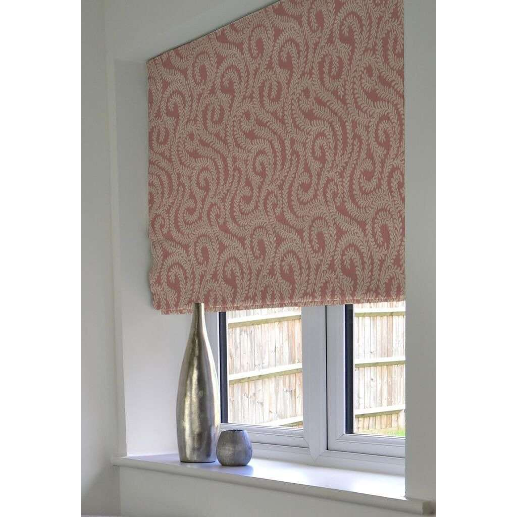 McAlister Textiles Little Leaf Blush Pink Roman Blind Roman Blinds