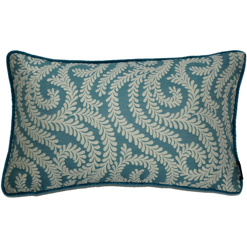 McAlister Textiles Little Leaf Teal Pillow Pillow Cover Only 50cm x 30cm