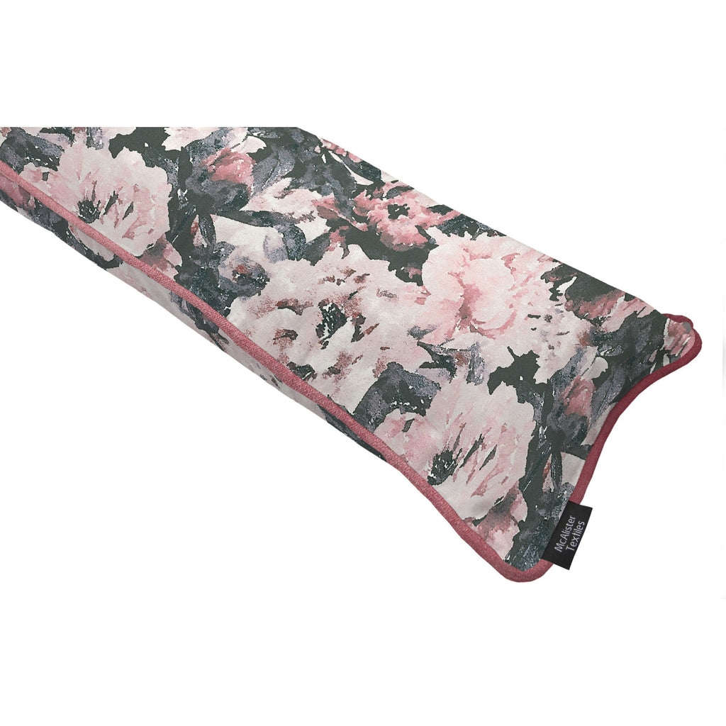 McAlister Textiles Camille Pink Velvet Draught Excluder Draught Excluders