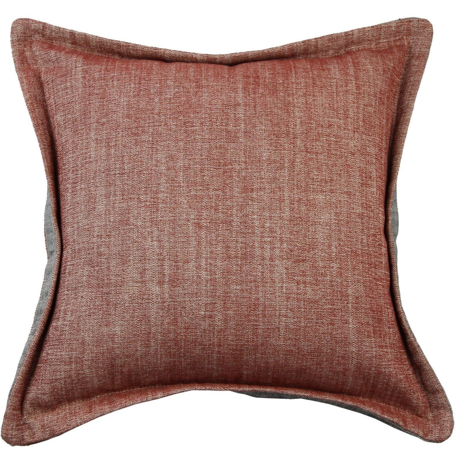 McAlister Textiles Rhumba Accent Burnt Orange + Grey Pillow Pillow Cover Only 43cm x 43cm