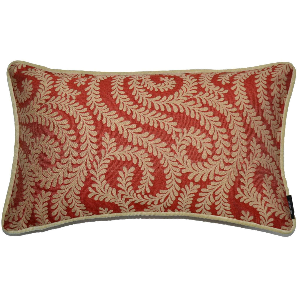 McAlister Textiles Little Leaf Burnt Orange Cushion Cushions and Covers Cover Only 50cm x 30cm