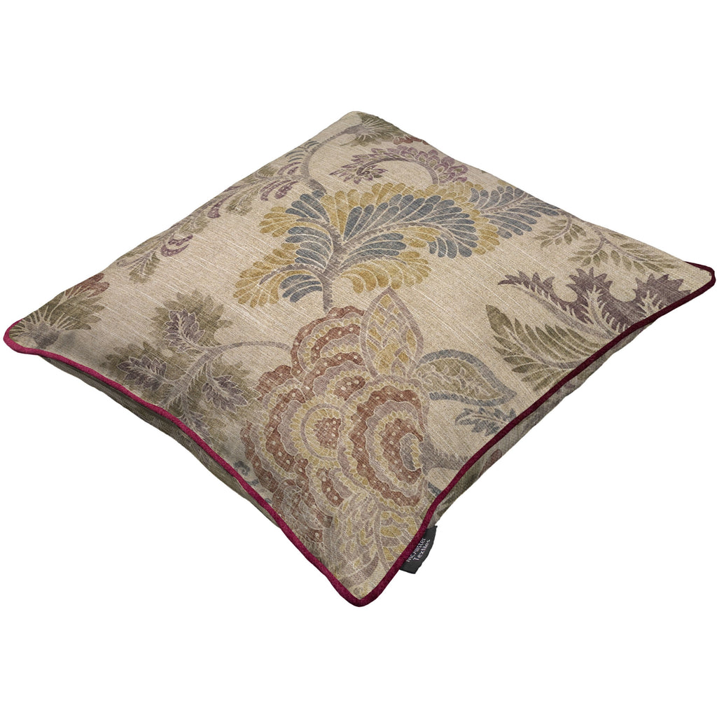 McAlister Textiles Floris Vintage Floral Linen Cushion Cushions and Covers