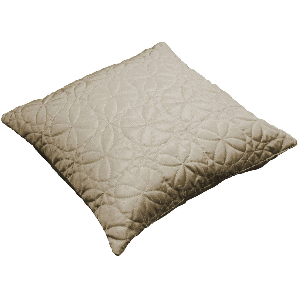 McAlister Textiles Rocco Round Quilted Ivory Silk Cushion Cushions and Covers