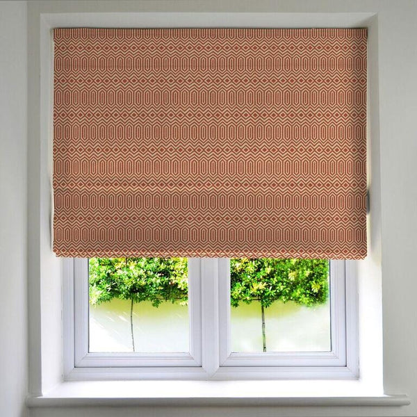 McAlister Textiles Colorado Geometric Burnt Orange Roman Blinds Roman Blinds