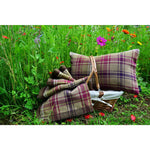Carica l'immagine nel visualizzatore di Gallery, McAlister Textiles Angus Purple + Green Tartan Cushion Cushions and Covers