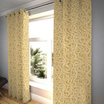 "Carica l'immagine nel visualizzatore di Gallery, McAlister Textiles Little Leaf Ochre Yellow Curtains Tailored Curtains 116cm(w) x 182cm(d) (46"" x 72"")"