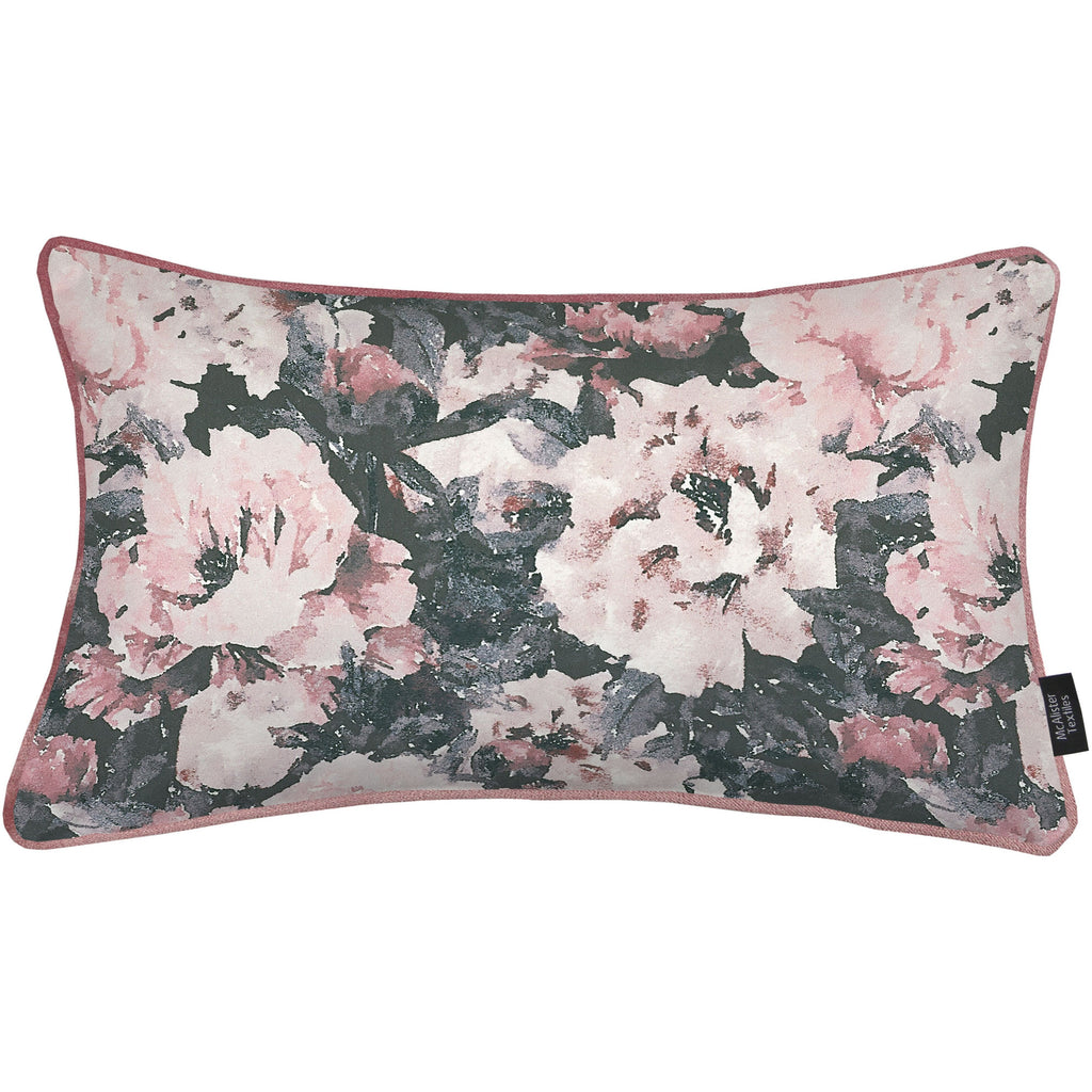 McAlister Textiles Camille Floral Velvet Cushion Cushions and Covers Cover Only 50cm x 30cm
