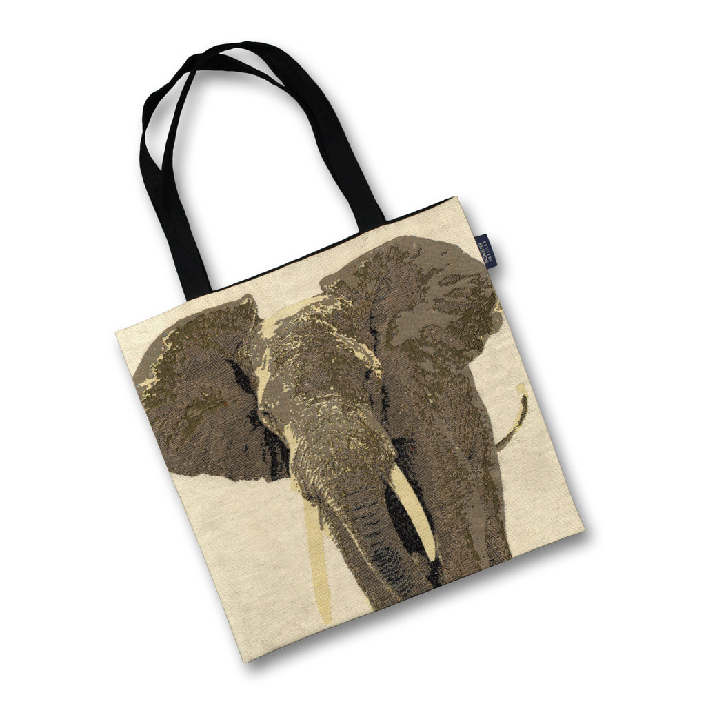 McAlister Textiles Grey Elephant Tapestry Tote Bag Tote Bag