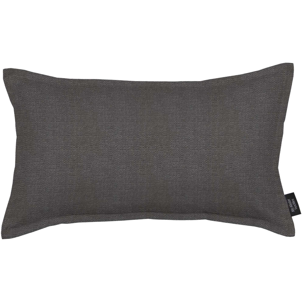 McAlister Textiles Savannah Charcoal Grey Cushion Cushions and Covers Cover Only 50cm x 30cm